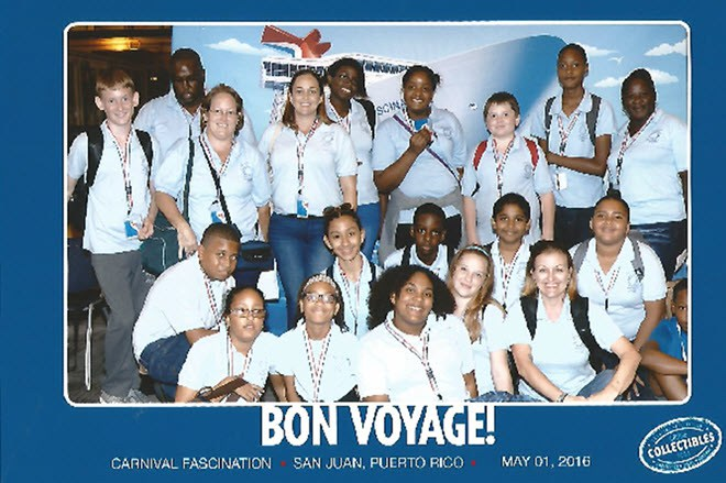 Grade 6 of Sacred Heart school enjoyed their class trip on a real cruise