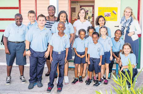 Saba's pupils excited to be back in school